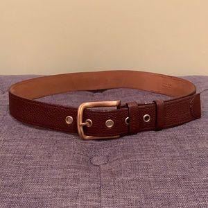 Brown leather Prada belt size 32.